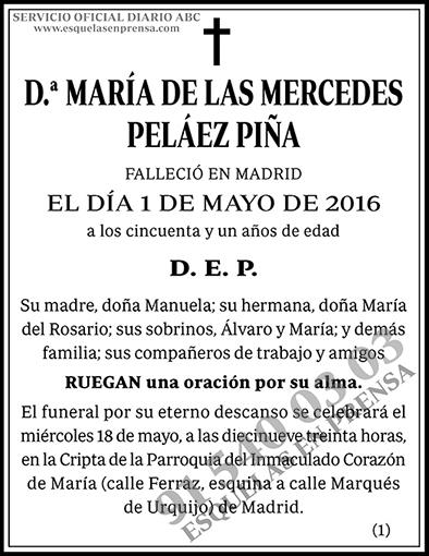 María de las Mercedes Peláez Piña